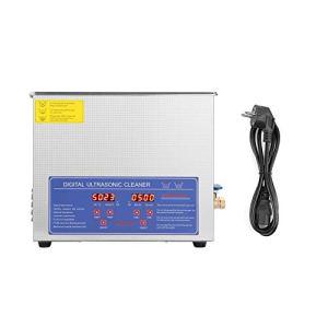Ejoyous Nettoyeur à ultrasons, Machine de Nettoyage numérique 10L, Minuterie de Bain pour Nettoyeur à ultrasons, Machine de Chauffage, Prise 220V EU