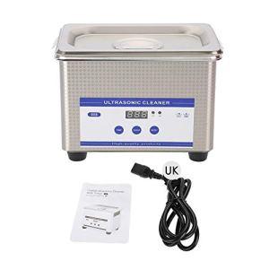 Nettoyeur ultrasonique, 800 ml, machine nettoyante ultrasonique pour bijoux avec réservoir et minuteur numérique pour montres, bagues, pièces de monnaie, lunettes, dents