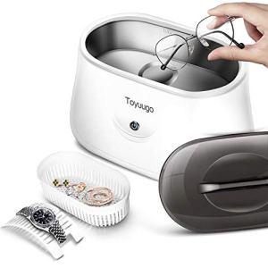 Toyugo Nettoyeur à ultrasons 650 ml Nettoyeur à ultrasons 42 000 Hz Appareil à ultrasons pour lunettes, montres, bijoux, prothèses dentaires Outils