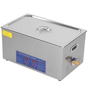 Cikonielf Nettoyeur à ultrasons à ultrasons pour salle de bain, écran numérique, 22 L, appareil de nettoyage à ultrasons avec chauffage minuterie, ultrasons, appareil pour rotège, lunettes, bijoux