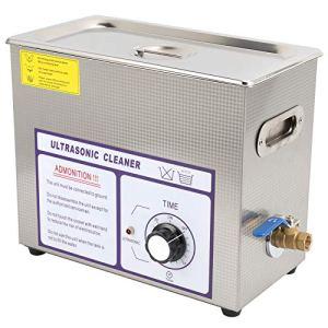 Nettoyeur à ultrasons, 180 W Professional 6 L Digital Nettoyeur à ultrasons 0 – 30 minutes de minuterie mécanique réglable pour matériel de rechange auto circuit de laboratoire (EU 220 V)