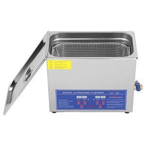 Wakects Nettoyeur à ultrasons numérique en acier inoxydable – 6 l – Avec minuterie de chauffage et panier – Haute fréquence de travail – 220 V