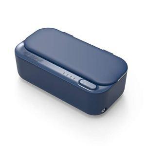 CGBF-Nettoyeur Ultrasonique Portatif de Bijoux 46KHZ,Machine Ultrasonique de Décapant de Lunettes 430ML,pour Le Nettoyage des Bagues Montres Colliers Rasoirs Pièces de Monnaie Pièces Métalliques,Bleu