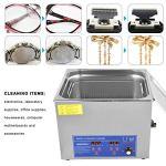 Machine de nettoyage ultrasonique réglable de température de nettoyeur à ultrasons numérique professionnel de 60AL 15L 40KHz pour la montre de lunettes de bijoux(EU)