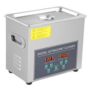 Nettoyeur à ultrasons 3 L avec écran numérique en acier inoxydable, pour bijoux, lunettes, montre, montres, quincaillerie domestique, etc.