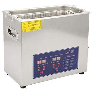 Nettoyeur à ultrasons Eujgoov, machine de nettoyage en profondeur à haute fréquence minuterie numérique équipement de nettoyage de chauffage PS-30A AC 60Hz / 50Hz(EU plug)
