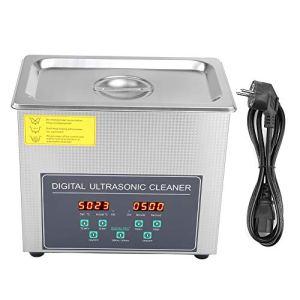 Cikonielf Nettoyeur ultrasonique numérique 3L à Double fréquence en Acier Inoxydable, Machine de Nettoyage avec écran LCD, Prise EU 220V