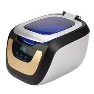 EBTOOLS 750 ml Nettoyeur à ultrasons avec minuteur et écran LED, machine de nettoyage à ultrasons pour anti-cernes, télescopes, jade, bijoux, montres
