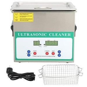 Nettoyeur à Ultrasons Chronométré par Machine à Laver par Ultrasons 3.2L 120W pour le Nettoyage de Collier D'anneau de Bijoux(EU Plug)