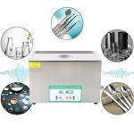 Nettoyeur à Ultrasons, Minuterie de Chauffage de Nettoyage de Bain de Réservoir Ultra Sonique Numérique DK-1027HTD 220V pour Usage Domestique Personnel Commercial (30L)(Prise UE 220V)