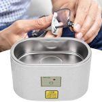 Nettoyeur de prothèses à ultrasons, nettoyage rapide en acier inoxydable Nettoyeur à ultrasons à une clé,(European standard 220V)