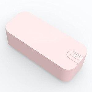 ZZX Nettoyeur à ultrasons 680 ML Nettoyeur de Bijoux 42000 Hz Bain à ultrasons Synchronisation réglable avec Panier pour Pendentif de Bijoux, Lunettes, Montres (Color : Pink)