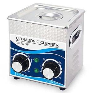 ZZX Nettoyeur à ultrasons avec Chauffage et minuterie, Machine à ultrasons Industrielle 60W 2L pour Bijoux Professionnels, Montre, Nettoyage de Lunettes, Acier Inoxydable