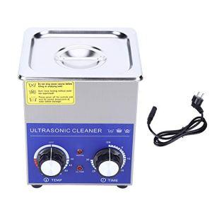 EBTOOLS Nettoyeur ultrasonique, nettoyeur à ultrasons en acier inoxydable avec chauffe-eau, machine de nettoyage ultrasonique pour bijoux, montre et lunettes (2L)