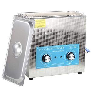 Machine à laver à ultrasons, nettoyeur à ultrasons 360HT 6,5 l Chauffage mécanique du temps Machine de nettoyage à ultrasons(EU plug)