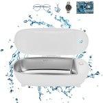 Machine à Laver les Bijoux 450 Ml Mini Nettoyeur à Ultrasons pour Nettoyer les Lunettes 46 KHz pour éliminer les Impuretés sur les Bijoux en Argent Enlever la Rouille(EU Plug)