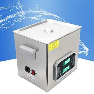 Nettoyeur à ultrasons, acier inoxydable, composé de 80 ℃ 1-99Min, machine de nettoyage de bijouterie pour une période de nettoyage de bijoux pendant une période de temps.