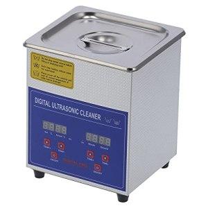 Nettoyeur à Ultrasons Eujgoov Machine de Nettoyage en Acier Inoxydable Écran à LED Nettoyeur à Ultrasons pour les Applications de Nettoyage D'objets de Haute Précision 40 KHz(EU PLUG AC220V)