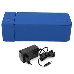 Nettoyeur à Ultrasons MK186, Mini Nettoyeur de Bijoux 600 Ml 50 KHz Machine de Nettoyage de Bain de Réservoir Ultra Sonique pour le Nettoyage de Lunettes Montres(EU Plug 220V)