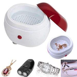 Nettoyeur à ultrasons Portable Machine de nettoyage de bijoux Mini dispositif de lavage pour boucle d'oreille anneau collier nettoyeur à ultrasons dentaire