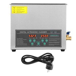 Nettoyeur à ultrasons, prise 220V de l'UE de machine de nettoyage numérique à double fréquence d'acier inoxydable de 6L