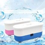 Zhou-YuXiang Mini Nettoyeur de Bijoux à ultrasons Mini Nettoyeur de Bijoux Portable Nettoyeur de Lunettes électrique Nettoyeur à ultrasons