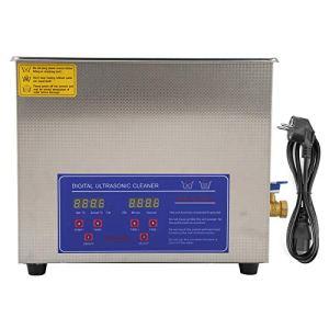 Ausla Machine de Nettoyage de Bijoux, Nettoyeur à ultrasons numérique 10L pour Bijouterie pour Laboratoire de Nettoyage