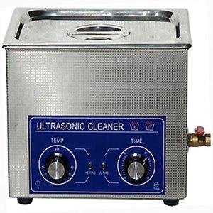 LANTRO JS – Nettoyeur à ultrasons, nettoyeur à ultrasons industriel en acier inoxydable avec minuterie de chauffage, machine à réservoir de nettoyeur à ultrasons avec panier(10L)