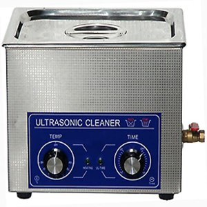 LANTRO JS – Nettoyeur à ultrasons, nettoyeur à ultrasons industriel en acier inoxydable avec minuterie de chauffage, machine à réservoir de nettoyeur à ultrasons avec panier(6L)