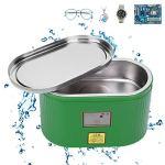 Machine à laver à ultrasons, en acier inoxydable 304 40 KHz 0,4 L Nettoyeur à ultrasons professionnel pour bijoux montres nettoyeur 0,4 L BK 3a AC