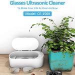 01 Nettoyeur à ultrasons, équipement de Nettoyage Portable 400ml 40KHz pour Lunettes pour bagues pour pièces de Monnaie pour Bijoux