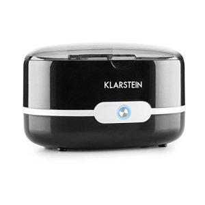 KLARSTEIN Superpure Nettoyeur Ultrason (Ultrason : 42 kHz, idéal pour Lunettes et Bijoux, Fonctionne à l'eau du Robinet, Corbeille de Nettoyage) – Noir