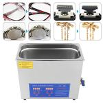 Machine de nettoyage à ultrasons en acier inoxydable, nettoyeur à ultrasons commercial nettoyeur à ultrasons nettoyage à ultrasons pour prothèses dentaires lunettes, montres, métal