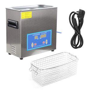 Nettoyeur à ultrasons 360HTD – Appareil de nettoyage à ultrasons – Minuteur numérique – 6,5 l – Pour plusieurs usages (prise européenne)