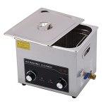 Nettoyeur à Ultrasons A10L, Réservoir Ultra Sonique Domestique Réglable en Acier Inoxydable, Double Circuit étanche Match, 42 KHz(EU Plug)