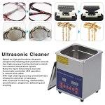 Nettoyeur à ultrasons, nettoyeurs à ultrasons de laboratoire Commercial pour lunettes pour montres pour bijoux pour circuit imprimé(European standard AC200-240V, pink)