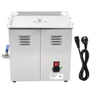 Nettoyeur à ultrasons pour polir les bijoux – Nettoyeur à ultrasons en acier inoxydable 10 L avec chauffage numérique LED pour lunettes de bijoux (prise UE)