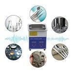 Réservoir de nettoyeur à ultrasons, 40 kHz MH-010S 2L Dispersion Solubilisation Nettoyage Nettoyeur à ultrasons pour cabinets dentaires pour pièces automobiles(European standard AC200-240V, pink)
