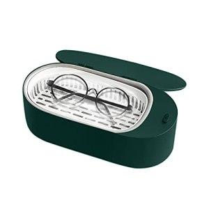 Aumaya Mini nettoyeur de bijoux à ultrasons 400 ml hine de nettoyage à ultrasons professionnelle portable pour lunettes prothèses montres rasoirs boucles d'oreilles colliers anneaux outils petits