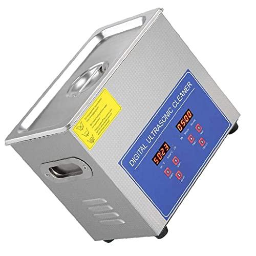 DierCosy Tools Nettoyeur à ultrasons, nettoyeur sonique PS-10A 2L bain numérique en acier inoxydable pour bijoux petites pièces lunettes produits chimiques maison argent