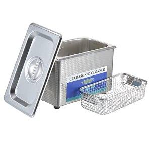 Flytise 900mL nettoyeur à ultrasons numérique ménage lunettes hine de nettoyage en acier inoxydable bijoux outil de nettoyage brosse à dents Instrument de nettoyage prise ue