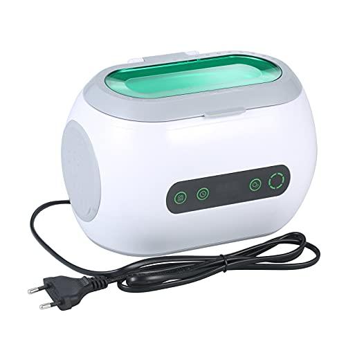 Flytise Nettoyeur à ultrasons numérique 600 ml avec fonction de dégazage hine de nettoyage de lunettes ménagères avec réservoir en acier inoxydable Outil de nettoyage de bijoux Instrument de