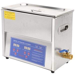 Machine de nettoyage ultrasonique industrielle de 180W 200W 6L, nettoyeur ultrasonique multifonctionnel de cavitation avec la commande numérique de minuterie de LED de fonction de chauffage(6 L)