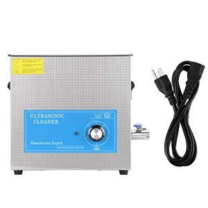 Nettoyeur à ultrasons 15L, machine de nettoyage à ultrasons pour lunettes, colliers, boucles d'oreilles, bracelets, électronique, montres, etc.(EU Plug 220V)