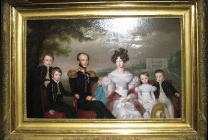 King Willem II of the Netherlands and family