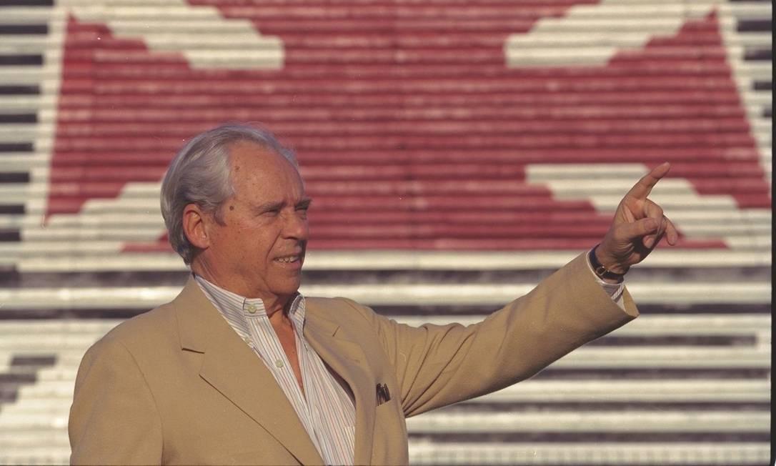 Antônio Soares Calçada, ex-presidente do Vasco, em foto de 1996