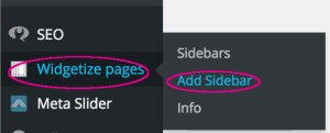Widgetize Pages Light - add sidebar