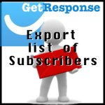 GetResponse – Export List of Subscribers