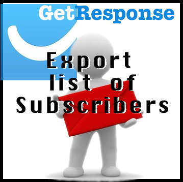 GetResponse - Export List of Subscribers