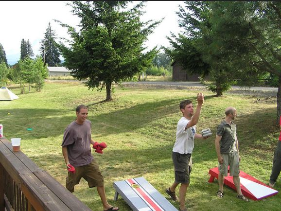Cornhole is one of the best outdoor games for adults
